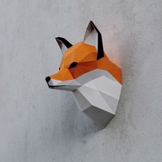 https://www.behance.net/gallery/28710579/Papercraft-fox-head