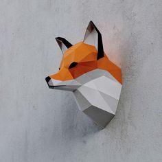 https://www.behance.net/gallery/28710579/Papercraft-fox-head