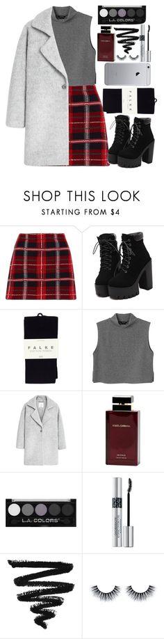 """LKLK"" by krizan ❤ liked on Polyvore featuring Miu Miu, Falke, Monki, MANGO, Dolce & Gabbana Fragrance, Christian Dior, Boots, fashionblogger, fashiontrend and fashionset"