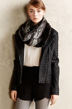 Honeycomb Quilted Vegan Leather Jacket #anthropologie