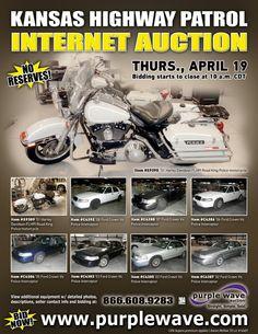 Kansas Highway Patrol Auction  April 19, 2012  http://purplewave.co/120419