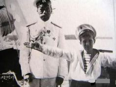Tsar Nicholas ll of Russia with his son and heir,Tsarevich Alexei Nikolaevich Romanov of Russia.A♥W