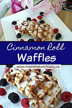 Cinnamon Roll Waffles Pin