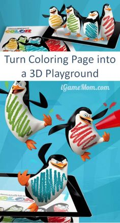 A free app that will turn your ordinary coloring pages into 3D playground. Great for kids creativity and imagination!