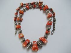An old hand made Moroccan Berber coral necklace. by pc2004uk on Etsy