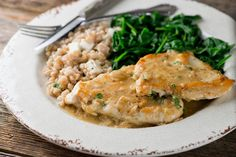 A light and easy recipe for chicken in buttered white wine pan sauce turns ordinary chicken elegant!