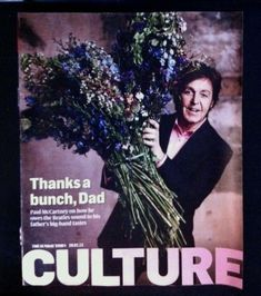 Culture Magazine Featuring Paul McCartney 29.01.2012. The Beatles. Thanks A Bunch, Paul Mccartney, The Beatles, Dads, Thankful, Culture, Magazine, My Love, Movie Posters