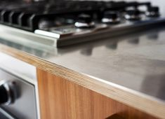 Charlotte Minty Interior Design: Scandi Style Kitchen. Exposed ply edging.
