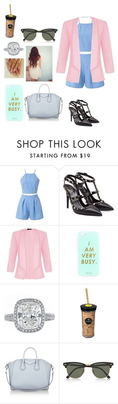 """Meetings"" by shania-collier on Polyvore featuring Valentino, Quiz, Keurig, Givenchy and Ray-Ban"