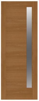 Flush Oak Glazed Obscure Slimlite Door, (H)2032 (W)813mm, 5397007096880
