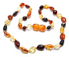 Genuine Baltic Amber Baby Teething Necklace Mixed by BLTAmber