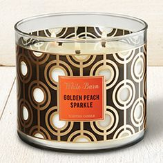Golden Peach Sparkle 3-Wick Candle - Bath And Body Works