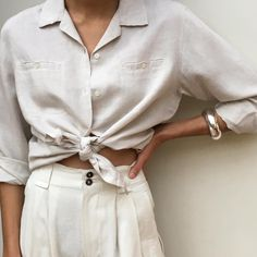 """commonmuseirl:""""Tovia chunky bangle via our stockist NA NIN"""" Beige Outfit, Summer Outfits, Cute Outfits, Mom Outfits, Casual Outfits, Boutique Fashion, Fashion Outfits, Womens Fashion, Fashion Trends"""