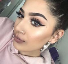 Double Nose piercing. Opposite sides. | fashion ...