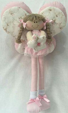 Felt Dolls, Doll Toys, Sewing Crafts, Sewing Projects, Felt Fairy, Angel Crafts, Fairy Dolls, Diy For Girls, Diy Doll