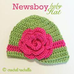 Newsboy Baby Hat By Tia Davis - Free Crochet Pattern - (ravelry)