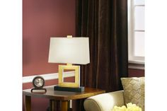 Duncan Natural Brass Rectangle 20 3/4-Inch-H Table Lamp
