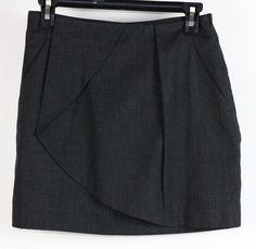 NWT Tate Charcoal Gray Two-Pocket Mini Skirt 26 (66-89) #Tate #Mini #Casual