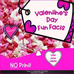 Valentine Fun Facts NO PRINT, NO PREP! Interactive! Great for middle-schoolers!