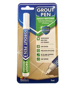 Proof That a $10 Grout Pen Is Capable of Transforming Your Entire Bathroom | Dingy grout lines, be gone!