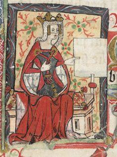 tapiz con imagen de la emperatriz Matilde ( o Maud) por monje San Albano (S. XV)