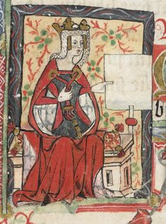 Empress_Mathilda.png (445×599)  Named the heir to the English throne, her cousin Stephen stole it.  She eventually won it back, though was never crowned, and is the mother of the first Plantagenet King and grandmother to Richard The Lionheart and King John.
