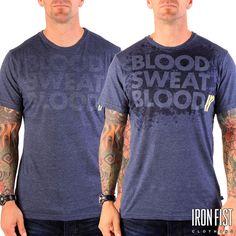 아이언피스트 BLOOD SWEAT BLOOD REACTIVE TEE  #ironfist #아이언피스트 #athletic #운동 #건강 #피트니스 #운동복