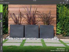Simple , modern and elegant plantings