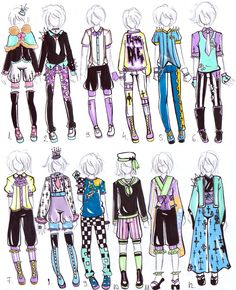 -CLOSED- MALE Pastel goth OUTFITS by Guppie-Adopts on deviantART