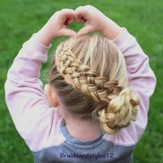 Basket Weave Braid For Little Girls
