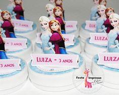 Aplique 3d para latinha frozen