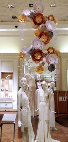 What if mannequin hair were to go to the ceiling?  Zoe Bradley Japanese Hanging Garden
