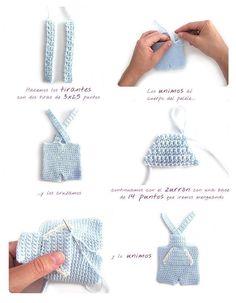 Mesmerizing Crochet an Amigurumi Rabbit Ideas. Lovely Crochet an Amigurumi Rabbit Ideas. Doll Dress Patterns, Doll Sewing Patterns, Crochet Doll Pattern, Crochet Dolls, Crochet Patterns, Crochet Stitches, Crochet Rabbit, Crochet Amigurumi, Crochet Doll Clothes