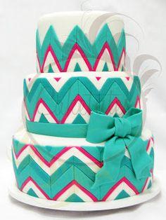 Caketutes Cake Designer: Bolo Chevron Cake