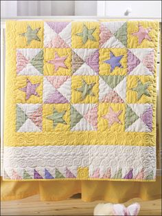 A Star is Born! Baby quilt from e Patterns