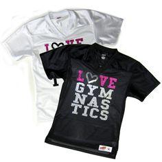 #jerseys #tshirt #love #gymnastics #gymnast #glitter #rhinestone #bling #women #fashion #custom #personalized