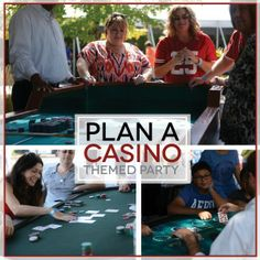 Plan a casino themed party