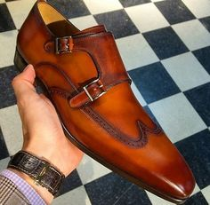 Men Tan Brown Monk Double Buckle Strap Wing Tip Derby Toe Genuine Leather Shoes sold by Leather Art Shop more products from Leather Art 2020 on Storenvy, the home of independent small businesses all over the world. Me Too Shoes, Men's Shoes, Shoe Boots, Shoes Men, Ankle Boots, Gentleman Shoes, Brown Dress Shoes, Custom Design Shoes, Formal Shoes