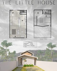 Sims House Plans, Small House Plans, House Floor Plans, Modern Tiny House, Small House Design, Modern House Design, Layouts Casa, House Layouts, Casa Loft