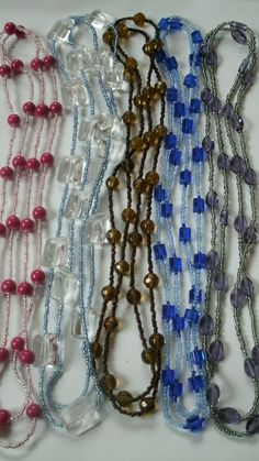 Wholesale, job lot of 5 beaded necklaces. LOT 13 £7.99
