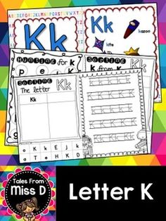This pack contains no prep/print and go activities for the letter K.  Includes;  1) Posters x 2 2) Letter Hunt 3) Case Sorting 4) Letter Sorting 5) Handwriting 6) Bracelets