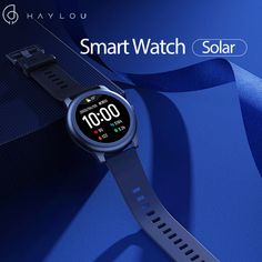 [BT 5.0]Haylou Solar LS05 Full Round Screen Wristband 12 Sport Modes Tracker Heart Rate Monitor 30 Days Standby Smart Watch Global Version - Black
