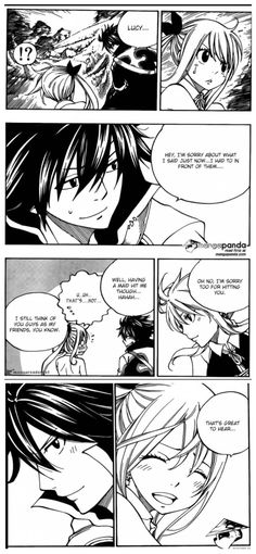 I love this Gray and Lucy moment and how they apologize I just love the way Gray teases Lucy about the maid outfit