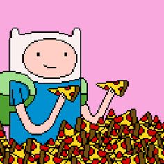 Adventure Time / Pizza