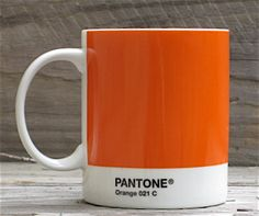 We have these in orange, yellow, red, purple and blue. They are well made but larger than typical espresso cups however there's nothing stopping you only putting a few millimeters of strong liquid in the bottom. Orange Mugs, Orange Yellow, Red Purple, Blue, Pantone Orange, Decaf Tea, Espresso Cups, Mug Shots, Coffee Drinks