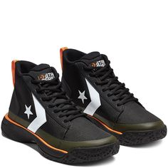Converse x Tinker Hatfield Star Series BB Mid Black/Bold Mandarin/Wolf Grey black/bold mandarin/wolf grey Nike Shoes Mens Casual, Converse Shoes Men, Converse Star, Sneakers Nike, Grey Converse, Designer Sneakers Mens, Tinker Hatfield, Star Clothing, Nike Killshot