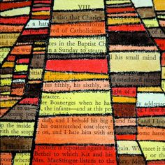 Color theory inspired by Klee.  Watercolor on book pages