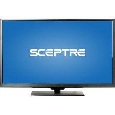 """SCEPTRE X322BV-HDR 32"""" LED Class 720P HDTV with ultra slim metal brush bezel, 60Hz"""