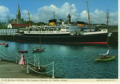 An poster sized print, approx (other products available) - British Railways Mailboat, Dun Laoghaire Harbour, County Dublin, Republic of Ireland. Date: - Image supplied by Mary Evans Prints Online - poster sized print mm) made in Australia Dublin Ireland, Ireland Travel, Dublin City, Connemara, Model Train Layouts, Republic Of Ireland, Old Photos, Scenery, British