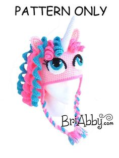 Hey, I found this really awesome Etsy listing at http://www.etsy.com/listing/168026610/crochet-unicorn-pony-hat-pattern